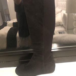 Stuart Weitzman black suede over the knee boots